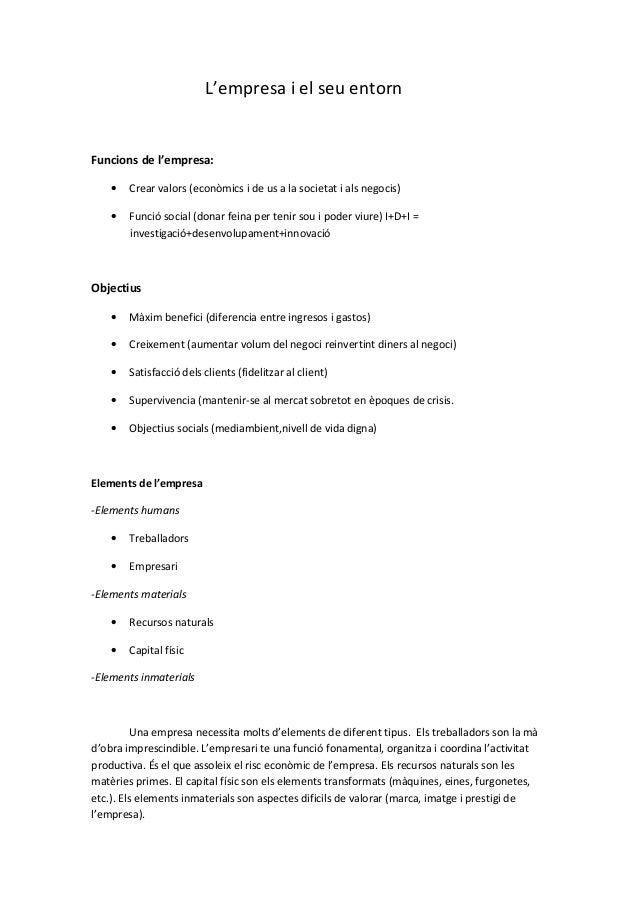 Resumen empresa tema 1