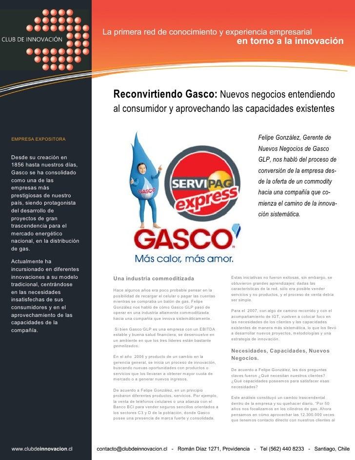 Reconvirtiendo Gasco: Nuevos negocios entendiendo al consumidor y aprovechando las capacidades existentes