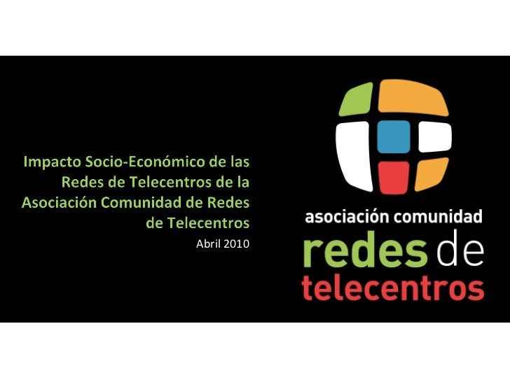 Informe Impacto Telecentros