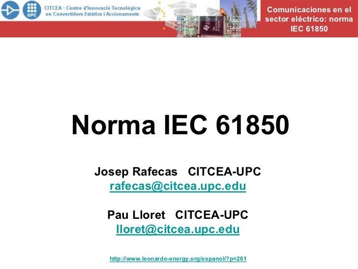 Resumen IEC 61850