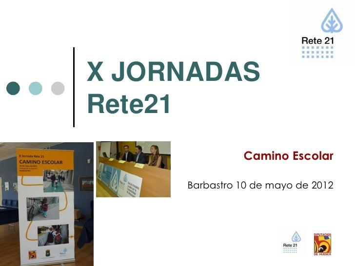X JORNADASRete21               Camino Escolar     Barbastro 10 de mayo de 2012