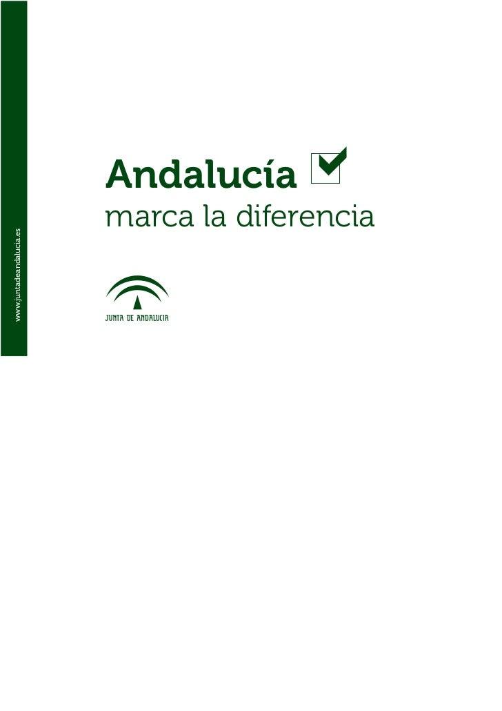 Andalucía                          marca la diferenciawww.juntadeandalucia.es