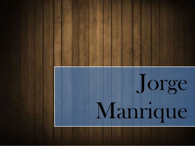 Resumen Jorge Manrique
