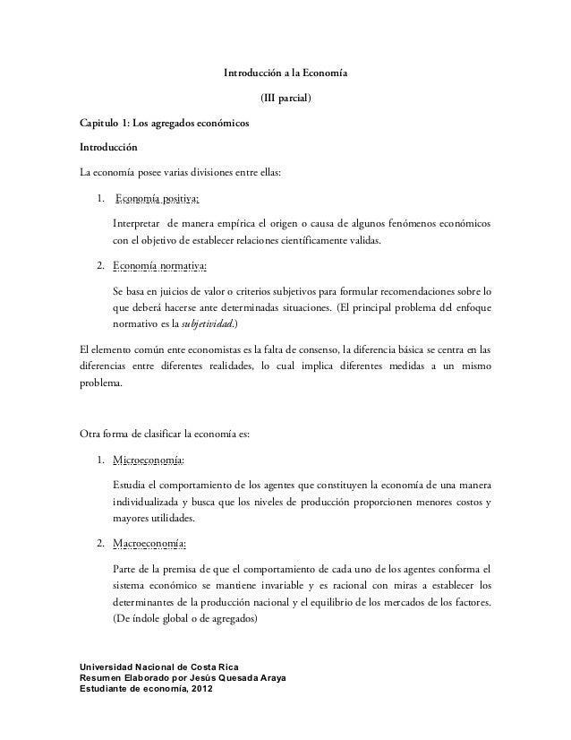 Introducción a la Economía                                           (III parcial)Capitulo 1: Los agregados económicosIntr...