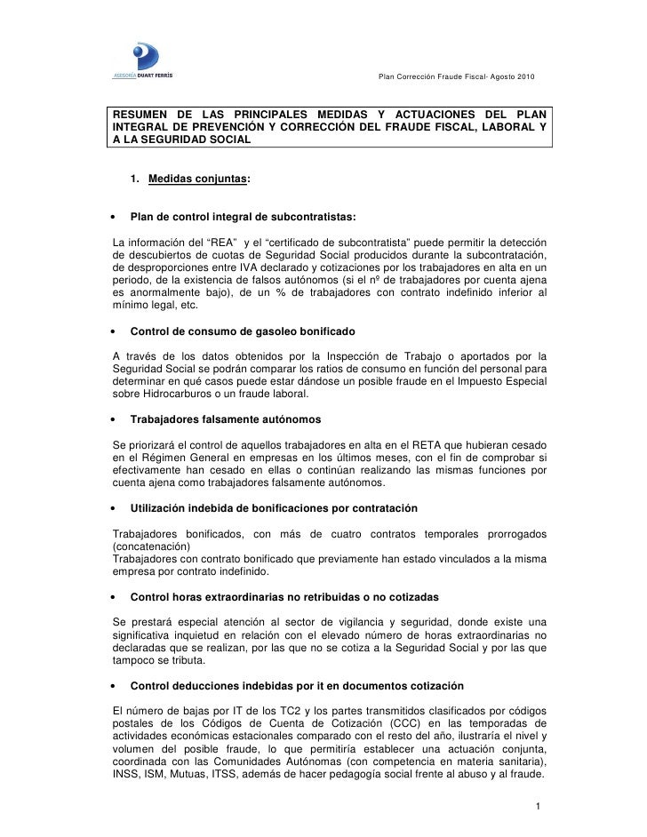 resumen medidas prevenci 243 n fraude