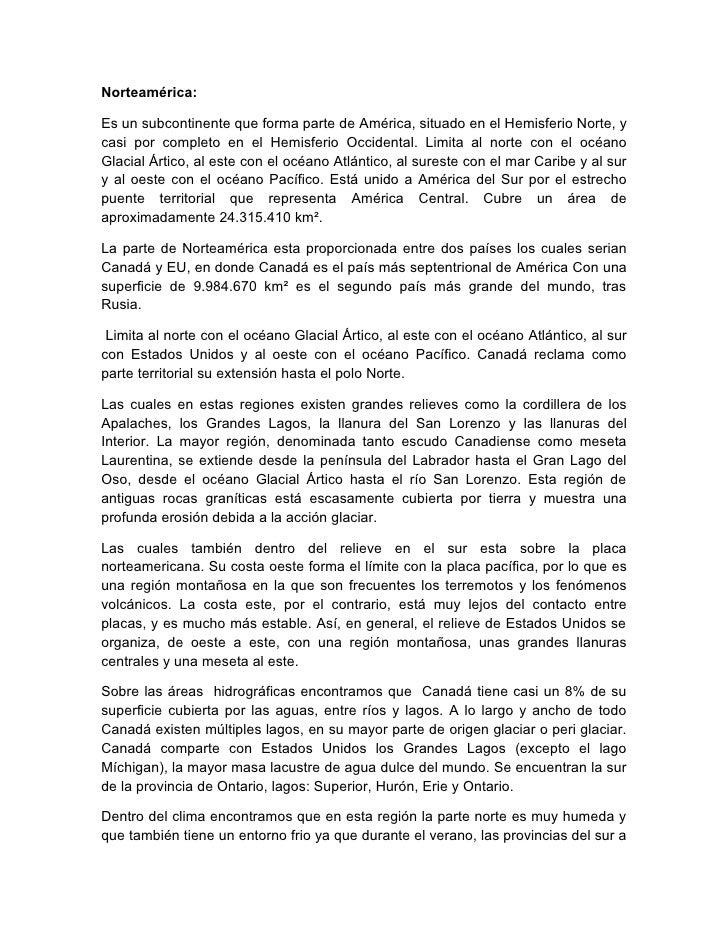 Resumen NorteaméRica