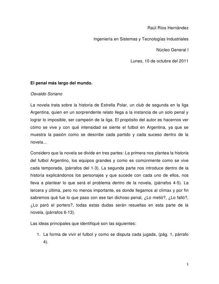 Raúl Ríos Hernández<br />Ingeniería en Sistemas y Tecnologías Industriales<br />Núcleo General I<br />Lunes, 10 de octubre...
