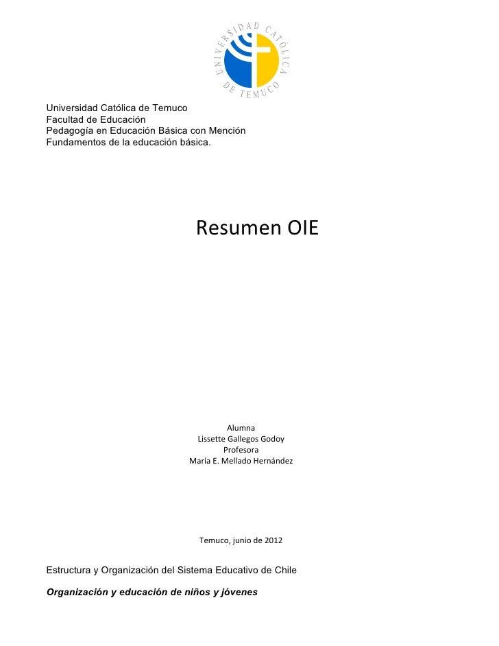 Universidad Católica de TemucoFacultad de EducaciónPedagogía en Educación Básica con MenciónFundamentos de la educación bá...