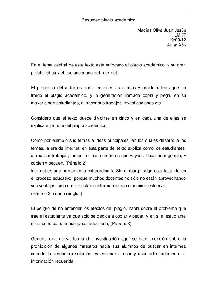 1                          Resumen plagio académico                                                       Macías Oliva Jua...