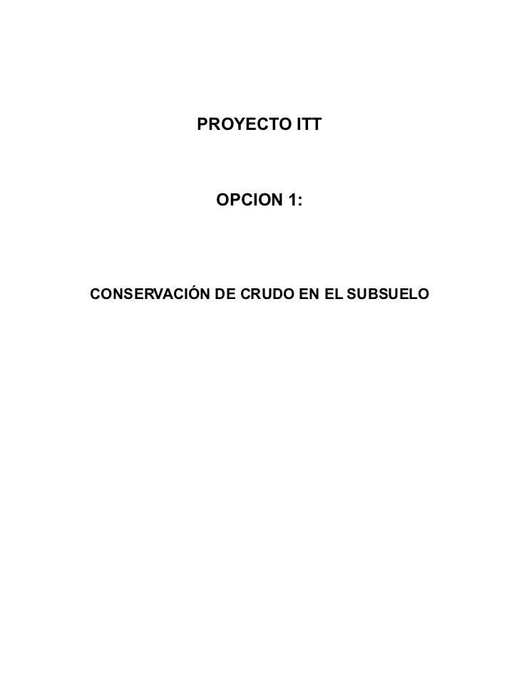 Resumen propuesta Yasuní ITT