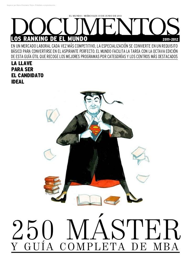 Resumen Ranking Máster 2011