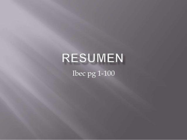 Ibec pg 1-100