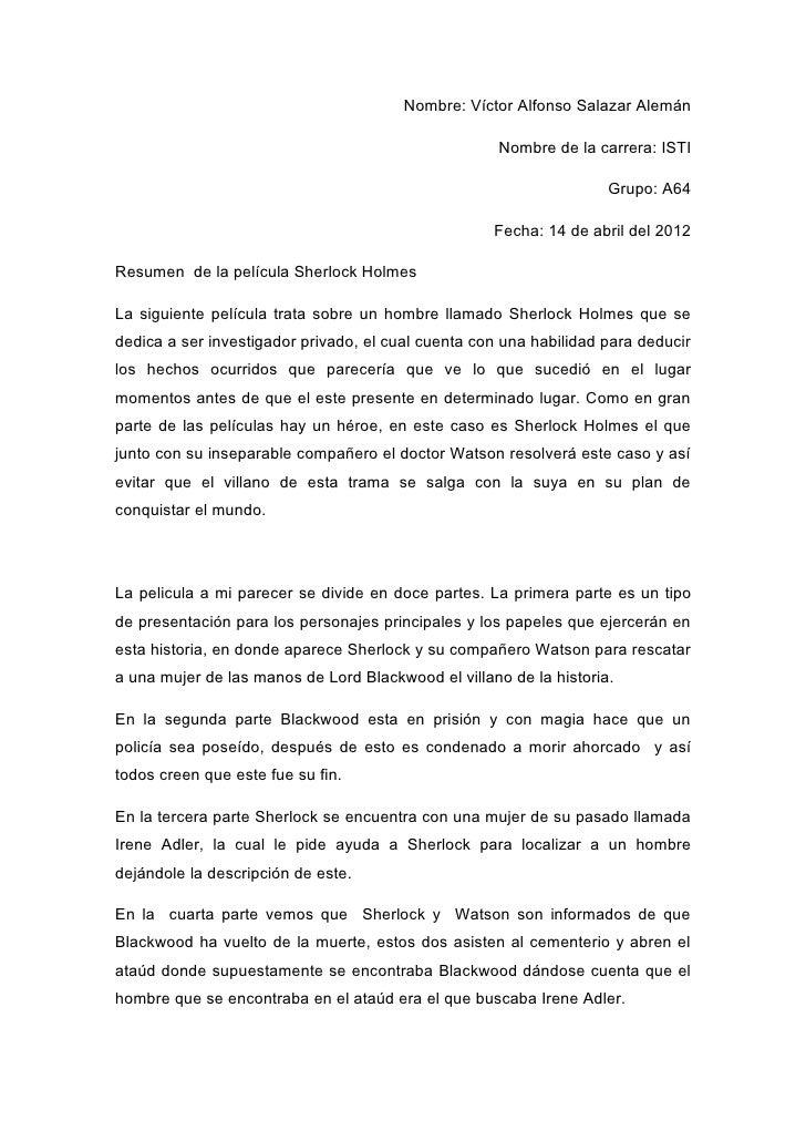 Nombre: Víctor Alfonso Salazar Alemán                                                     Nombre de la carrera: ISTI      ...