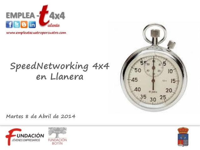 Resumen SpeedNetworking 4x4 en Llanera 8 abril