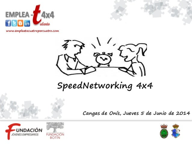 Cangas de Onís, Jueves 5 de Junio de 2014 www.empleatecuatroporcuatro.com SpeedNetworking 4x4