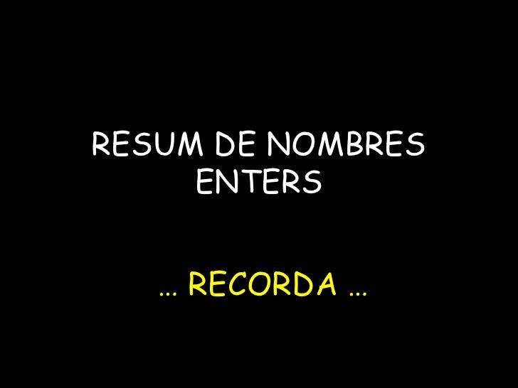 Resumenters