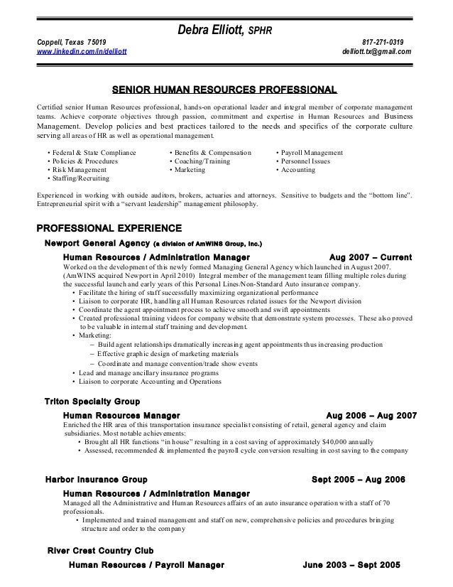 Health insurance resume samples