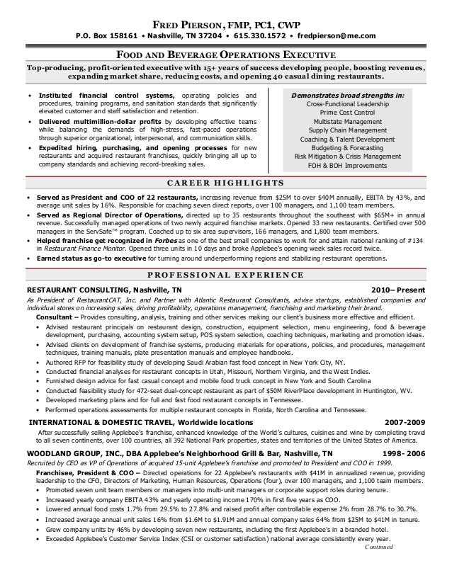 resume of fred pierson 12 2012
