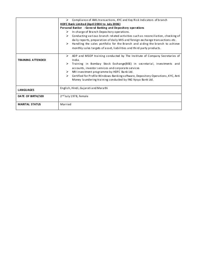 Foreign Exchange Branch Manager Resume