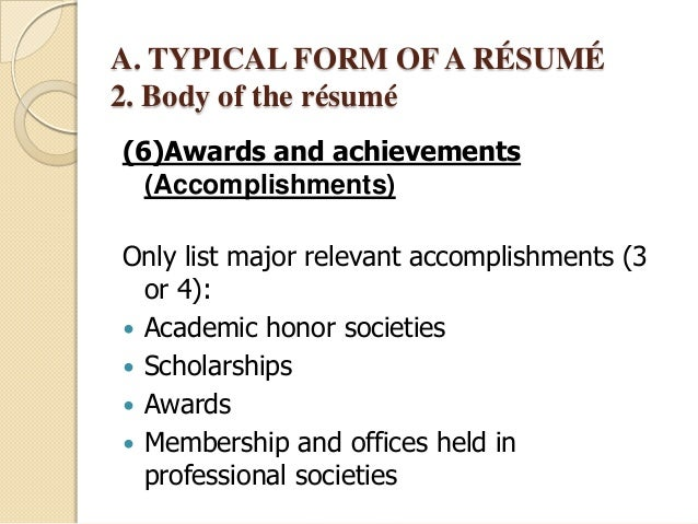 resume examples list of accomplishments examples resume professional List  Of Accomplishments For Resume Examples