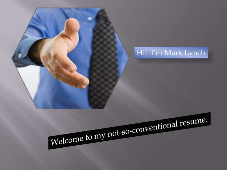An Unconventional Presentation