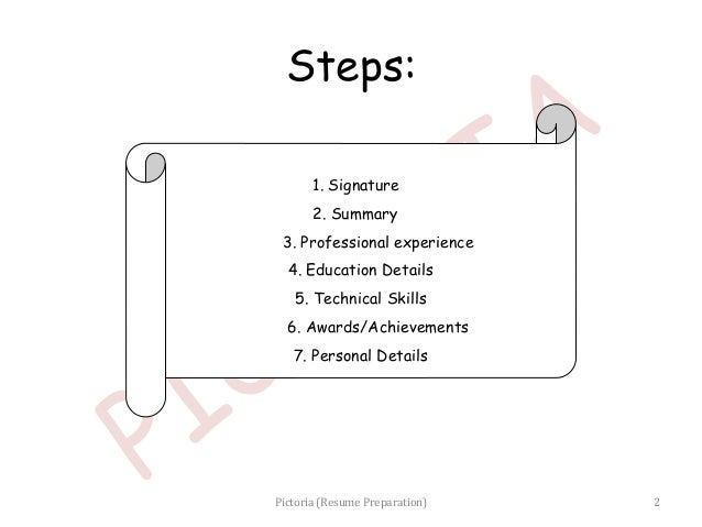 How 2 prepare resume
