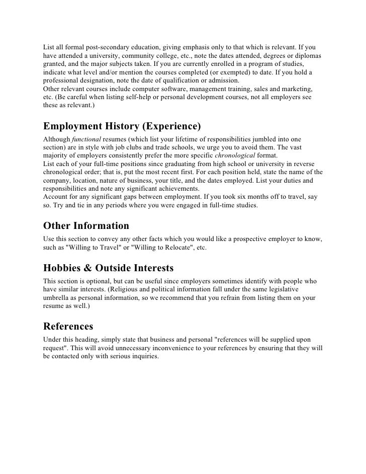 professional resume preparation