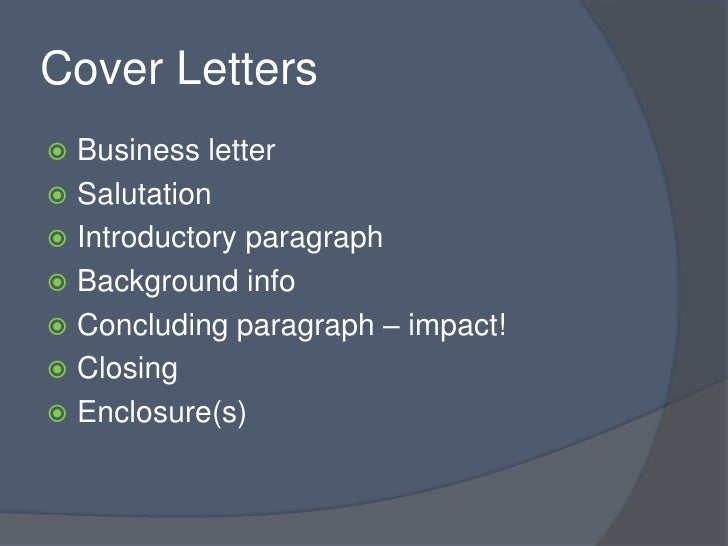 cover letters business letter salutation introductory paragraph