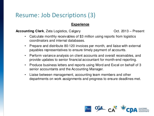 Accounting Clerk Duties – Accounting Clerk Job Description