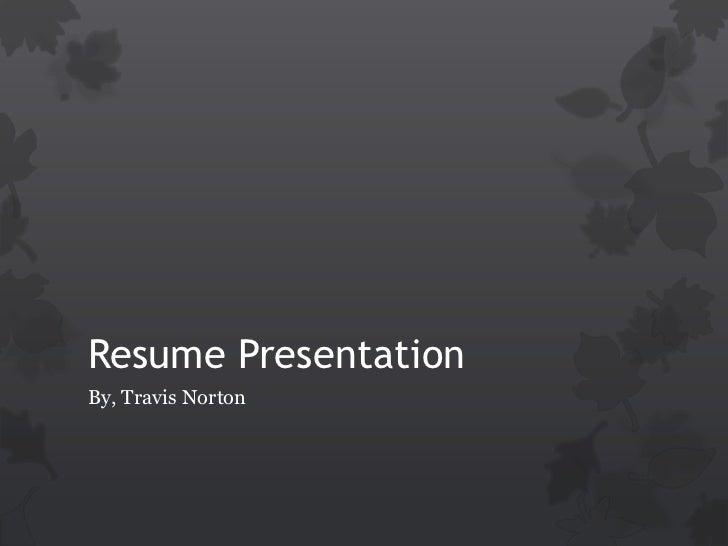 Resume presentation (tln)