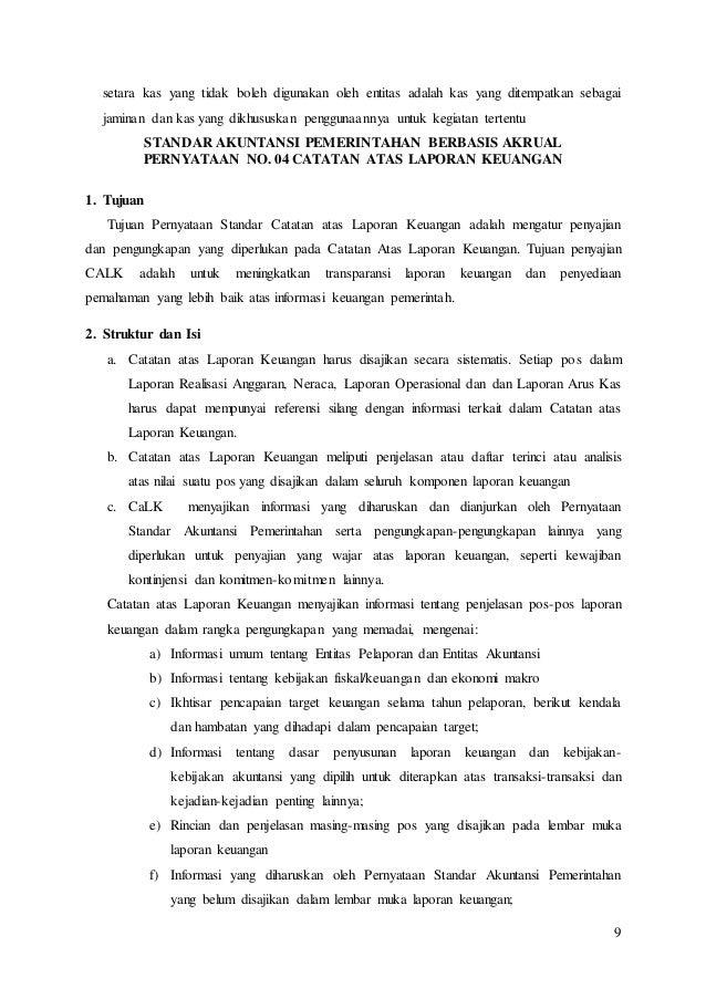 Ringkasan Pernyataan Standar Akuntansi Pemerintah