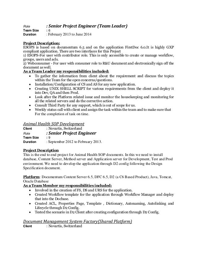 project engineer resume l   seangarrette coresume raushan  switzerland  role senior project engineer   project engineer resume
