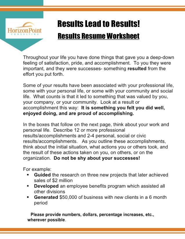 resume action verbs worksheet uncategorized