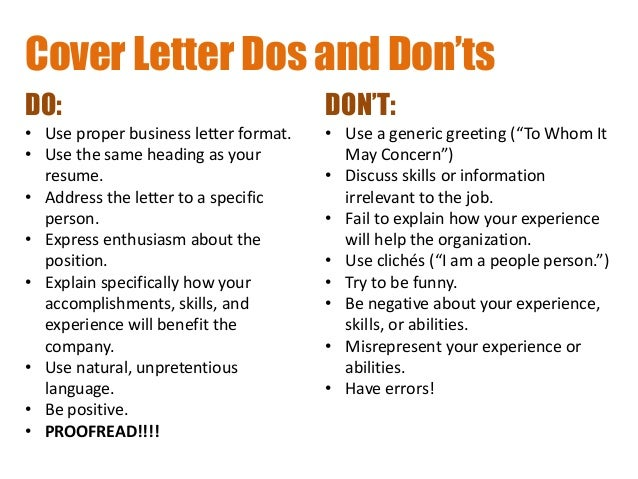 addressing - T Cover Letter