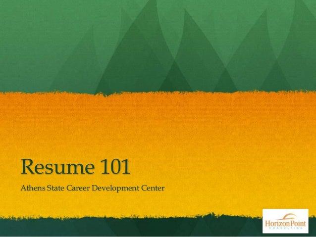 Resumes 101 athens state  jan28