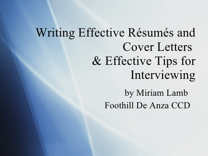 Resumes, Coverletters, Interviewing Final