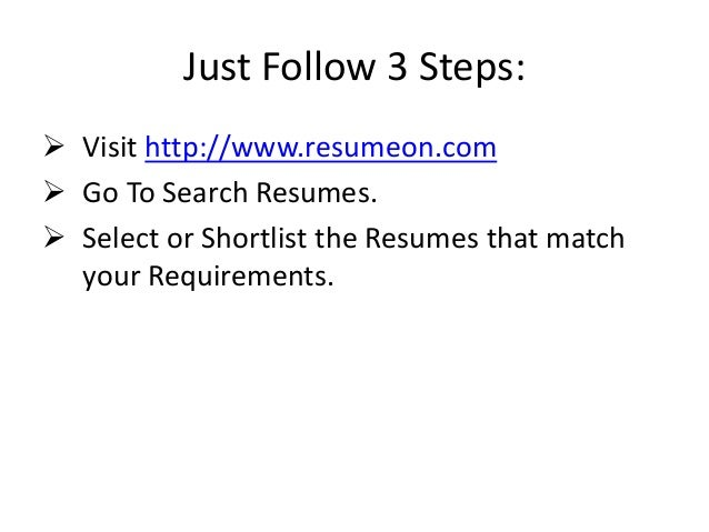 Free resume search sites