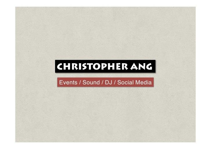 Chris Ang's Resume