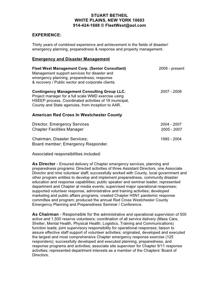 email format to send resumes
