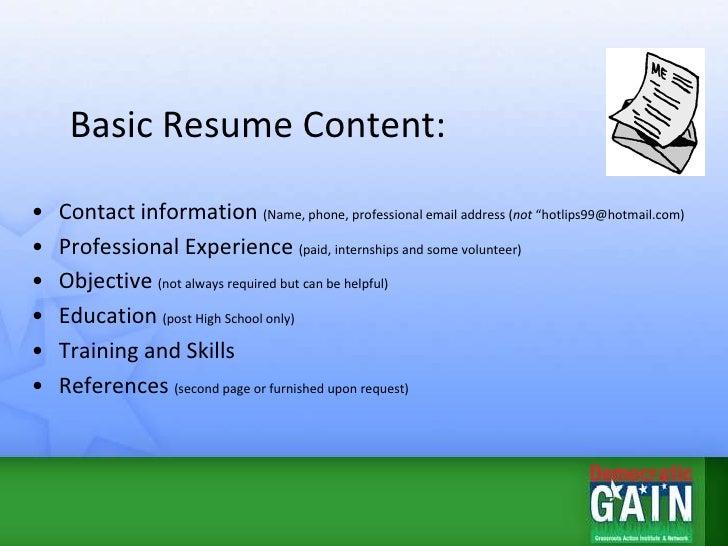 tip for resume