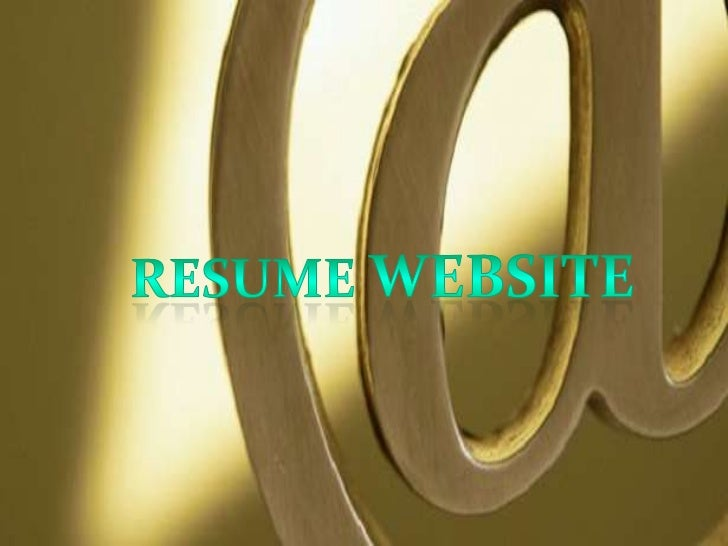  It can be divided into  categories: General Resume Website Personal Resume Website