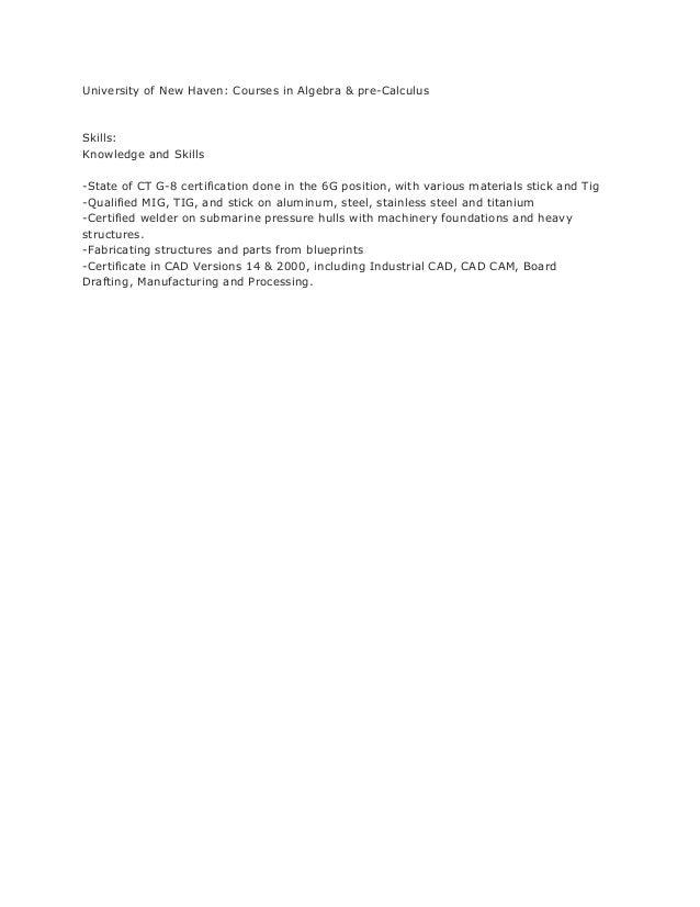 Steel welder resume