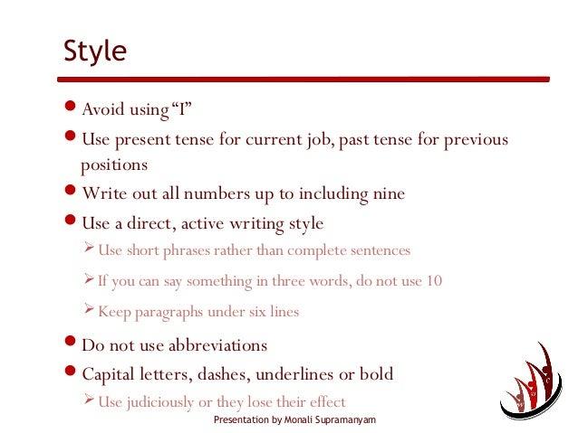 Resume past tense || Funny short essay