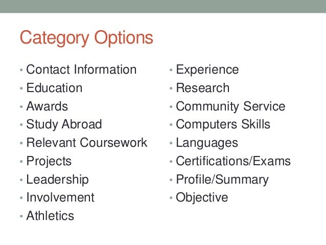 Include relevant coursework in resume