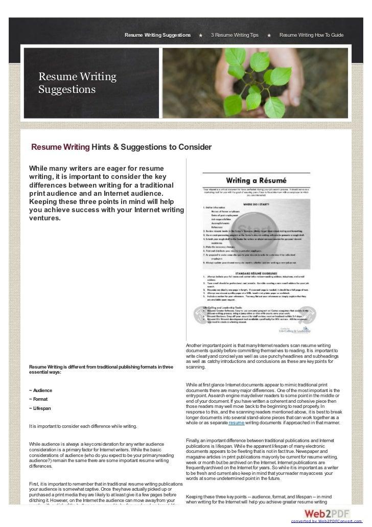 Resume Writing Suggestions                  3 Resume Writing Tips               Resume Writing How To Guide    Resume Writ...