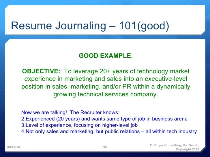 How To Write A Great Resume Objective Resume LiveCareer. 20 Resume ...