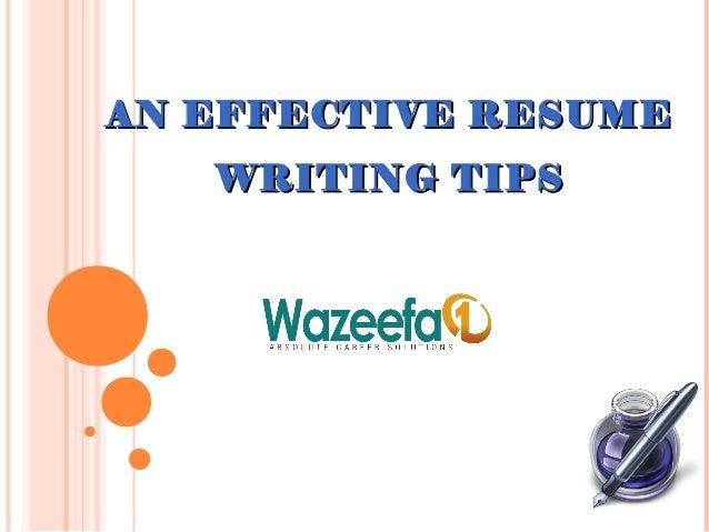 resume writing tips wazeefa1