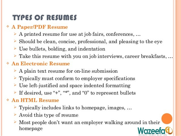 Bolding on resume