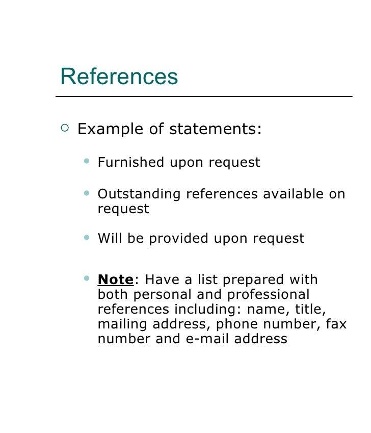 proper reference format for resume