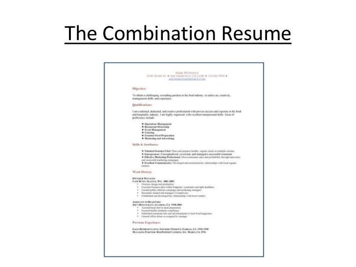 Resume format for career change